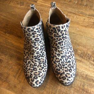 Cheetah print Lucky Brand booties